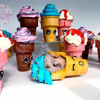 Ice Cream Shopkins - Cake by Sabrina - White's Custom Cakes