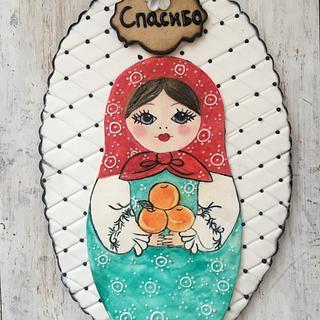 Hand painted matryoshka 33cm cookie
