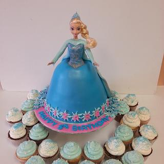 Elsa from  Frozen - Cake by Eva Christina Cakes