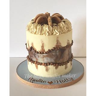 Fault line cookie dough cake