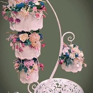 Wild Flower Chandelier Cake