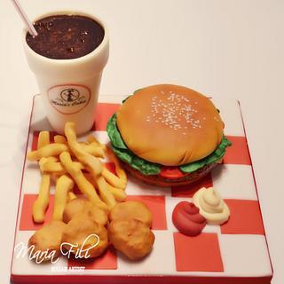 Burger Meal Cake