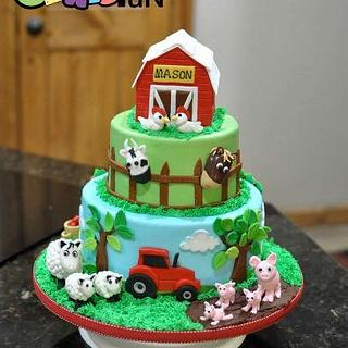 Farm cake - Cake by Cakes For Fun