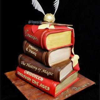 Harry Potter Book Stack Cake - Cake by Custom Cake Designs