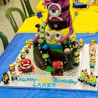 Evil Minion, Bob Minion, Minion Army, Anger Inside out, Blaze Birthday cake!