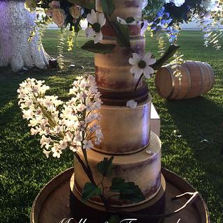 Rustic Elegance Semi-Naked Cake - Cake by Postres Don Fede