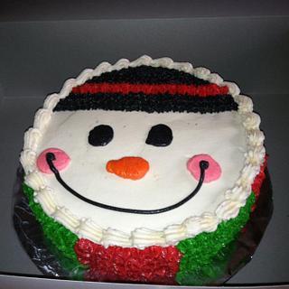 Snowman Cake - Cake by Bridget