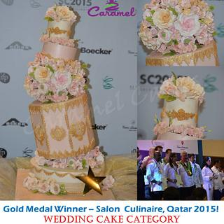 Whimsical Cake meets Traditional Elegance