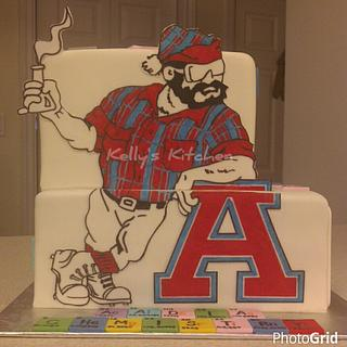 (Acadia) Chemistry themed cake - Cake by Kelly Stevens