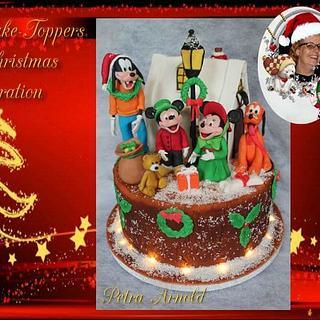 Fondant cake toppers sweet christmas collaboration