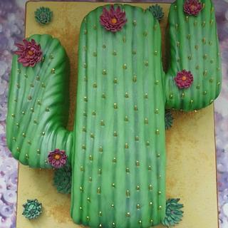 Cactus cake.