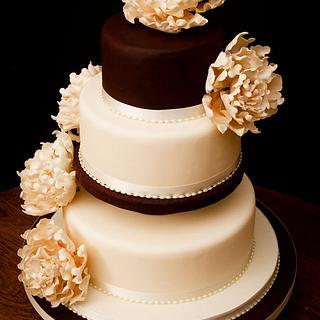 Wedding Peonies  - Cake by Fiona Williamson