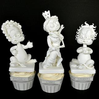 Cupcakes Cybele, Atalanta and Hippomenes - Cake by Un Cupcake, l'Addition !