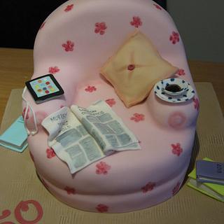 Chair birthday cake - Cake by Deborah Cubbon (the4manxies)