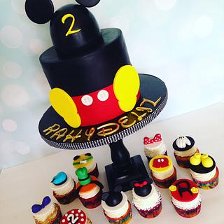 Mickey Mouse Cake and friends Cupcake