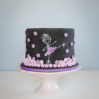 Ballerina Chalkboard Cake