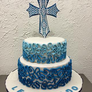 Bautismo Fondant cake