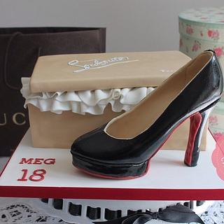 Christian Louboutin Shoe & Box Cake