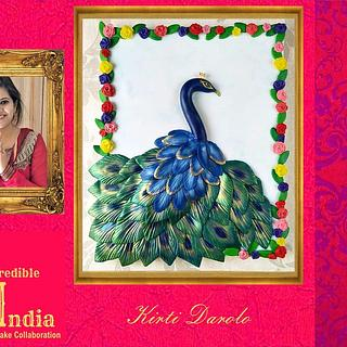 The Royal Peacock - Incredible India Cake Collaboration