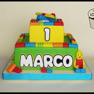 Lego cake  - Cake by mariella