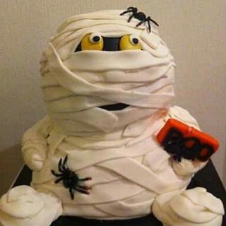 Halloween mummy cake 3d - Cake by Dana Bakker