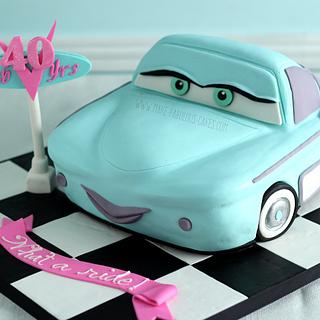 My 40th Birthday Cake - It's Flo from Cars the movie - Cake by Make Fabulous Cakes