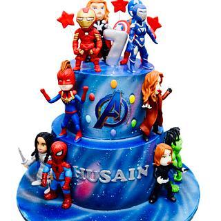 Avengers Superheroes Cake