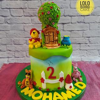 The  winnie pooh cake