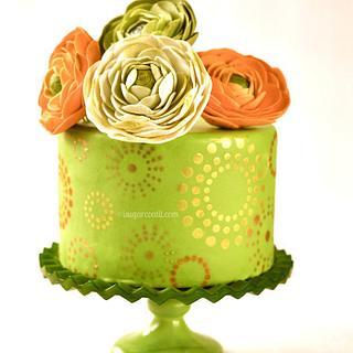 Starbursts & Ranunculus Citrus Cake