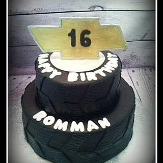 Chevy Tire 16th Birthday Cake