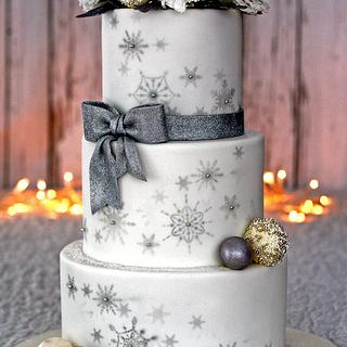 Winter Wonderland Wedding Cake (& peony tutorial)