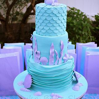 Mermaid and Under the Sea Cake