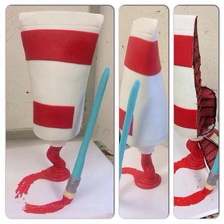 Paint tube cake