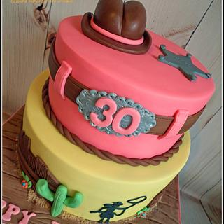 Western Themed Cake