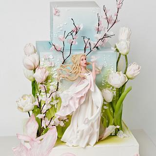 Spring girl - Cake by Olga Danilova