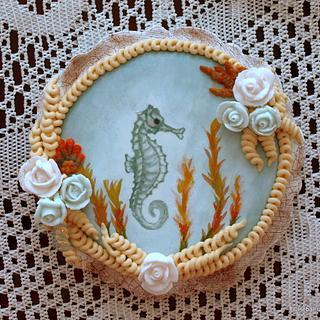 Seahorse Crackle Cookie. - Cake by Sweet Dreams by Heba
