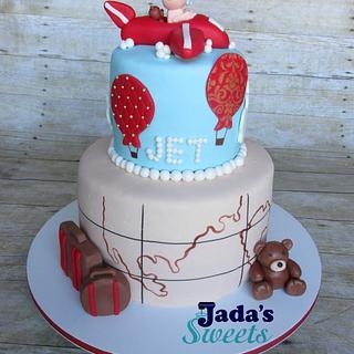 Baby Jet Shower Cake