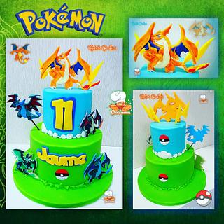 Pokémon dragons cake