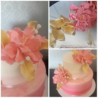 pretty ombre cake
