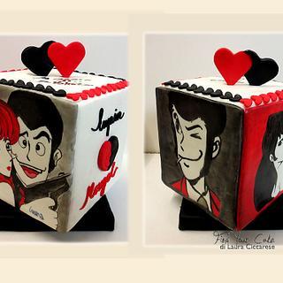 Valentine turning cake: Lupin & Margot