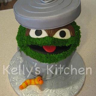 Oscar the Grouch birthday cake