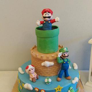 Super Mario and Luigi - Cake by BakeryLab