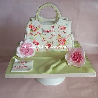 Hand painted Cath Kidston Washed Roses Handbag
