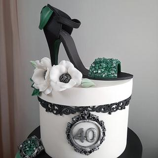40 & fabulous - Cake by Couture cakes by Olga