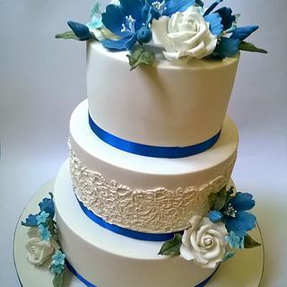 blue wedding cake - Cake by Ljubica Markovic