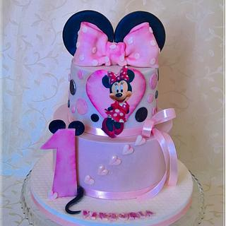 "First birthday ""Minnie Mouse"""