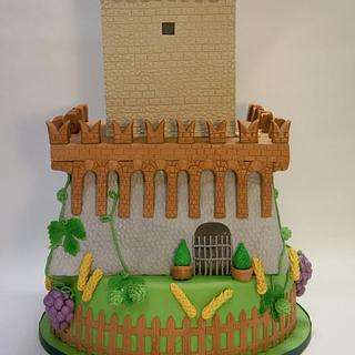 castle wedding cake - Cake by Alessandra