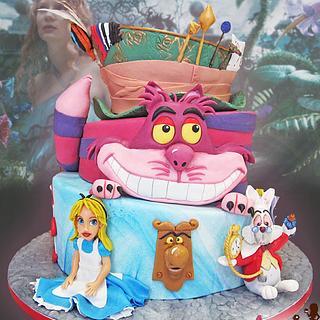 Alice in wonderland - Cake by Auxai Tartas