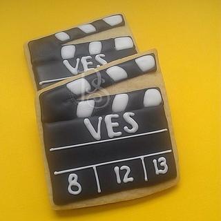 Movie Clap Board Cookies