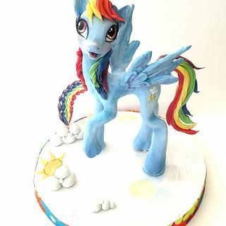 Rainbow Dash cake topper  - Cake by Carmela Iadicicco (torte con brio)